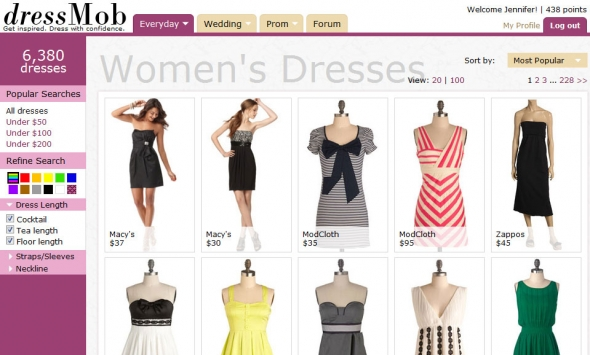 Discount clothes shopping online