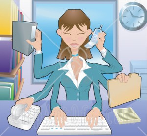 Woman_Organizing_Clipart