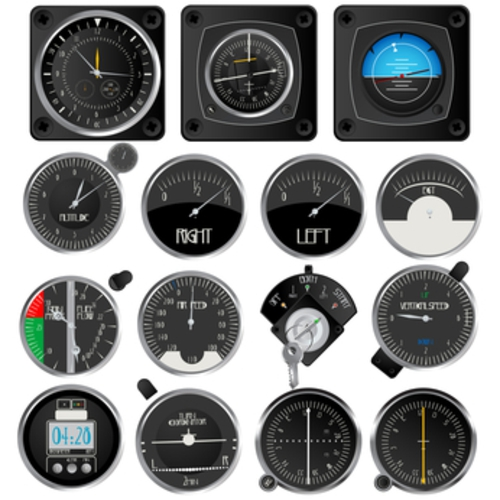 Aircraft instruments collection