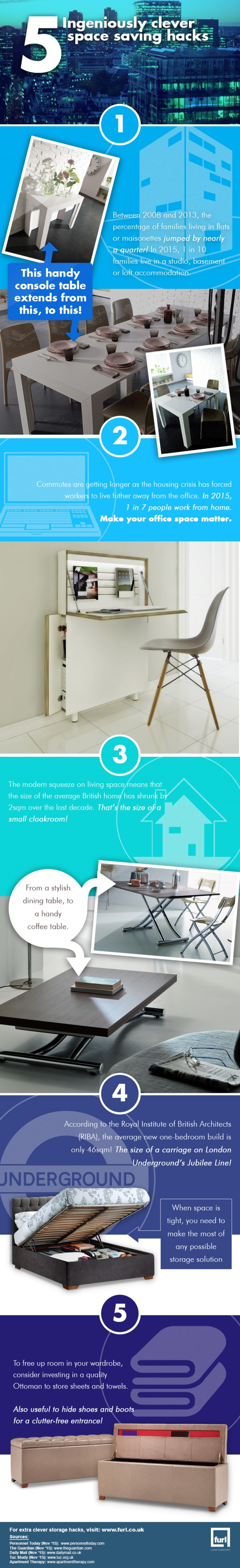 Amazing Hacks And Tips For Space Saving
